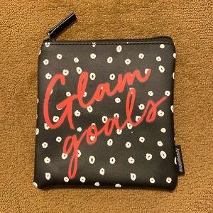 NEW! Glam goals black zipper cosmetic bag